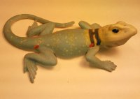Collarded Hand Painted 5 inch Figurine Lizard
