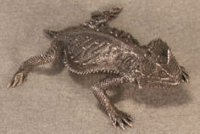 Rock Horned Lizard Pewter Figurines