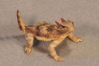 California Coastal Horned Lizard Hand-Painted Figurines