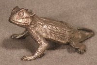 Round-Tailed Horned Lizard Pewter Figurines