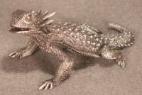 Regal Horned Lizard Pewter Figurines